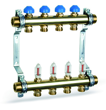 Heating manifold HKV2013A 55mm with Flow Meters for Underfloor