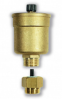 Automatic air vent valve like MVD but complete with automatic shut-off valve RIA